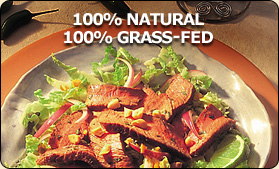 100% Natural 100% Grass Fed Beef